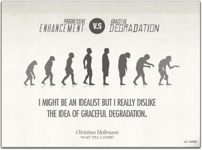 """Progressive Enhancement"" vs. ""Graceful Degradation"""